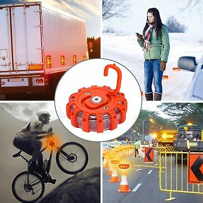LED Emergency Road Flares Red Roadside Beacon Safety Strobe Light Warning Sign