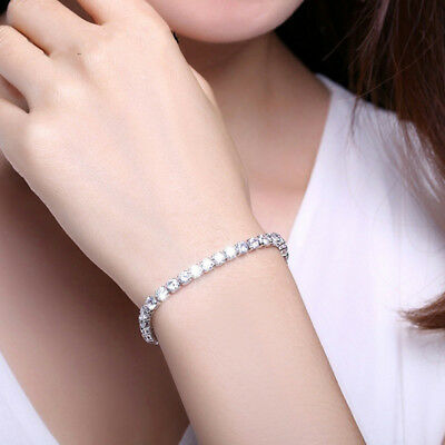 Charming Inlaid Rectangle Glittering Crystal Bracelet Jewellery for Wedding one