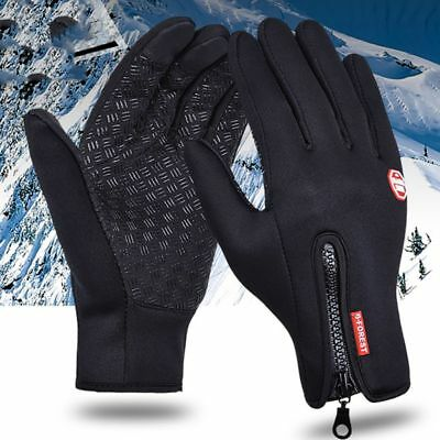 Unisex Winter Waterproof Insulated Gloves Outdoor Warm Thermal Riding Mittens US