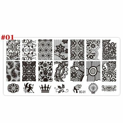 Nail Art Stamping Plate DIY Lace Flowers Beauty Stamp Polish Printing NailArt