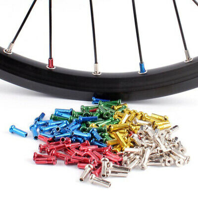 72Pcs MTB Mountain Bike Bicycle Cycling Alloy Anodized Wheel Spoke Nipples 14mm