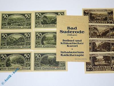 10 x Notgeld Suderode + orig. Tüte , german emergency money  M/G 351.1 , kfr/unc