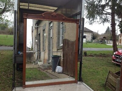 French vintage Louis Philippe style ornate large 2 piece mirror