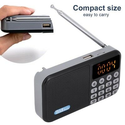 Portatile Mini DAB DAB+ FM Radio Digitale LCD Bluetooth MP3 Lettore USB TF