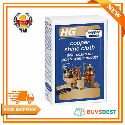 HG Copper Shine Cloth Copper Bronze & Brass Cleaning & Polishing Cloth 496000106
