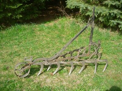 Antique Cultivator Plow Horse Drawn Farm & Garden Yard Ornament