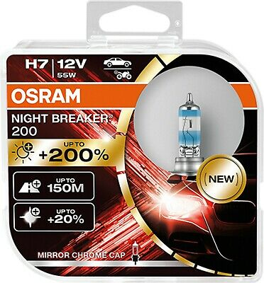Osram H7 NIGHT BREAKER UNLIMITED Halogen-Scheinwerferlampe 64210NBU 110% +40M