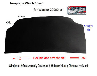 Neoprene Winch Cover XXL for Warrior 20000lbs with electric box top heavy duty