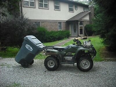 Trash Can Tow Hauler for ATV with 7/8 inch rear rack bar