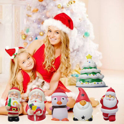 Christmas Snowman Santa Jumbo Squishies Slow Rising Toys Stress Release For Gift
