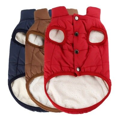Small Large Pet Dog Winter Warm Coat Sweater Puppy Fleece Jacket Vest Clothes US