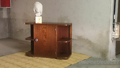 French Antique Art Deco Modernist Nightstand Side Cabinet Lamp End Table Bauhaus