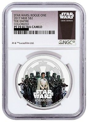 2017 Niue Star Wars Rogue One Empire 1 oz .999 Silver Proof $2 NGC PF70