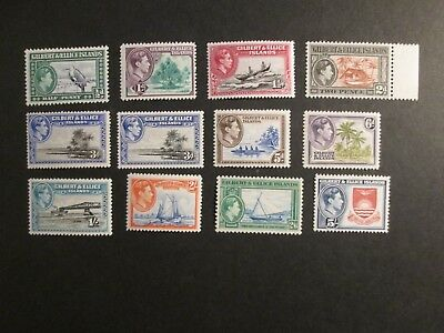 Gilbert and Ellice Islands 1939 definitive set Mint Lightly Hinged.