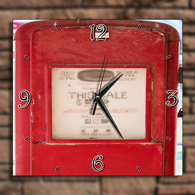 Vintage Gas Gallon Station - Home Deco Decor Kitchen Living Room Wall Clock