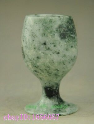 hand carved 100% Chinese Natura Jade Beautiful wine Cup