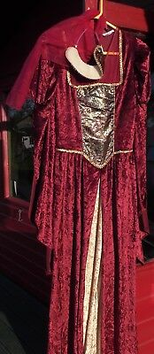 Collection of Medieval & Renaissance dresses plus accessories Size 8 - 12 Tall