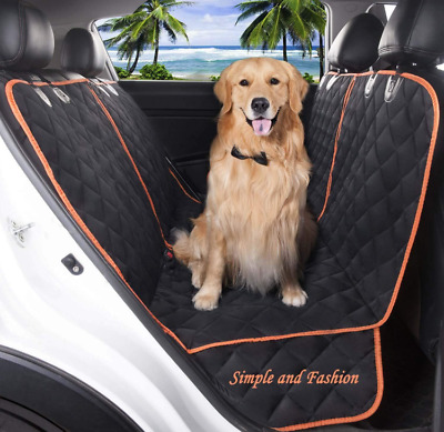 Waterproof Dog Car Seat Cover Hammock Pet Cat Suv Van Truck Back or Front 2 in 1