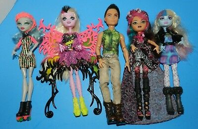 Monster High, Ever After High  & My Scene Boy Doll Lot Of  5  Dressed Dolls