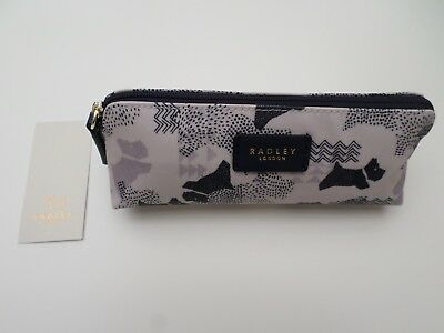 Radley - Data Dog - Chalk White & Navy -  Pencils / Cosmetics / Case - Rrp £22