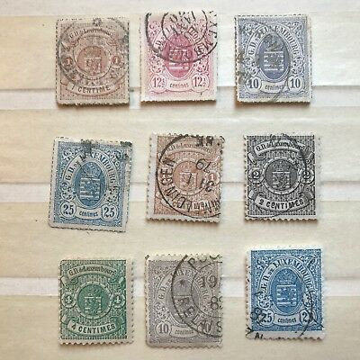 9 Early Luxembourg Stamps - ref171