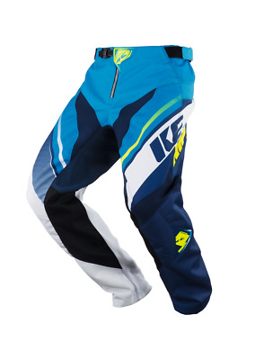 Trousers Motocross Kenny Track Navy / Cyan 2018 Taille 34 US