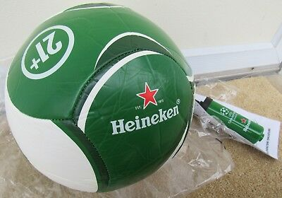 Heineken Beer Soccer Ball & UEFA Champions League Pump BRAND NEW Full Size RARE