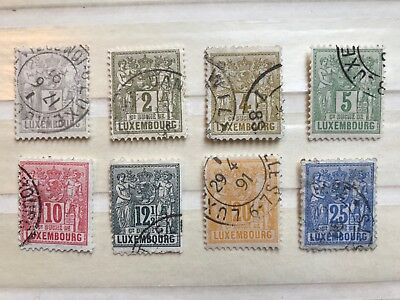 8 Early Luxembourg Stamps - ref171