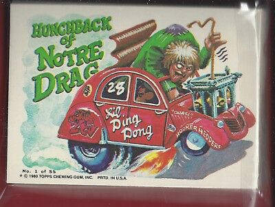 1980 Topps Weird Wheels Sticker Trading Cards Complete Set of 55 Cards Mint