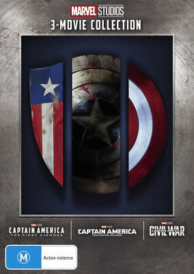 Captain America: 3-Movie Collection (Captain America: The . - DVD - NEW Region 4