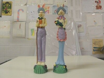 WINDSOR COLLECTION TALL THIN EASTER BUNNY RABBIT FIGURINE #. 24254 WITH BOX used