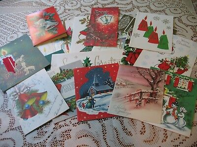 LOT of Vintage CHRISTMAS CARDS 40s-MidCentury LOVELY ASSORTMENT XMAS GREETINGS 2