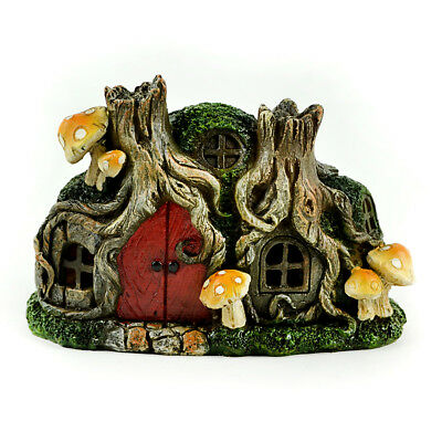Miniature Dollhouse FAIRY GARDEN - Tree Stump House - Accessories