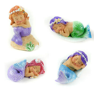 Miniature Dollhouse FAIRY GARDEN - Sleeping Mermaids - Set of 4 - Accessories