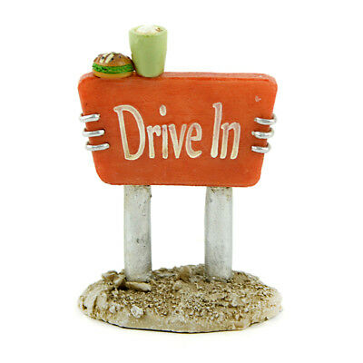 Miniature Dollhouse FAIRY GARDEN - Drive in Sign - Accessories