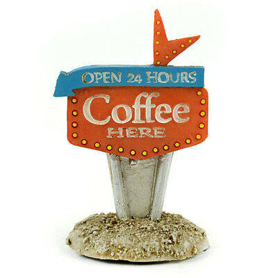 Miniature Dollhouse FAIRY GARDEN - Coffee Here Sign - Accessories