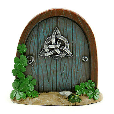 Miniature Dollhouse FAIRY GARDEN - Celtic Fairy Garden Door - Accessories