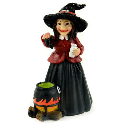 Miniature Dollhouse FAIRY GARDEN - Witch With Cauldron - Accessories