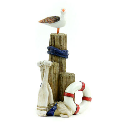 Miniature Dollhouse FAIRY GARDEN - Nautical Driftwood With Pelican - Accessories