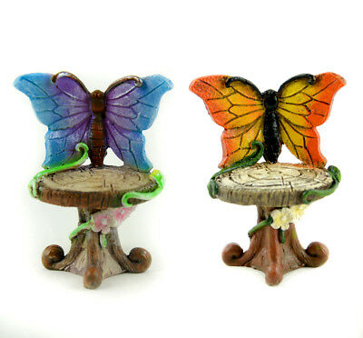 Miniature Dollhouse FAIRY GARDEN - Butterfly Chairs - Set of 2 - Accessories