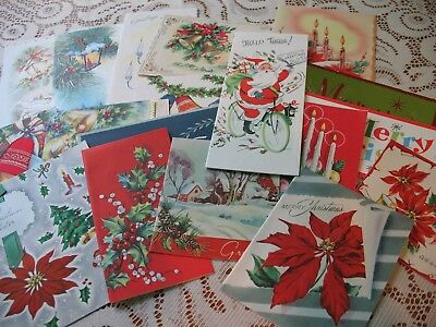 LOT of Vintage CHRISTMAS CARDS 40s-MidCentury LOVELY ASSORTMENT XMAS GREETINGS 6