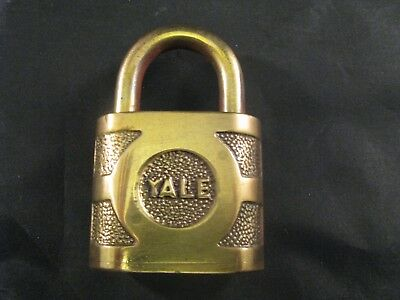 Vintage Antique Eaton Yale & Towne Super Pin Tumbler Brass Padlock - Lock