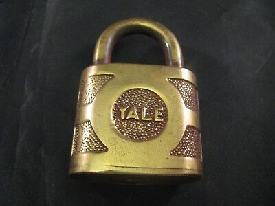 Vintage Antique Yale & Towne Super Pin Tumbler Brass Padlock - Lock