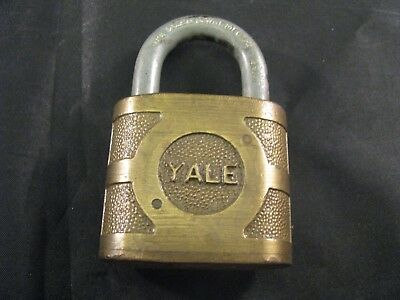 Vintage Antique Yale Super Pin Tumbler Brass Padlock - Collectible Lock