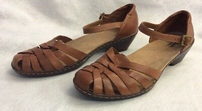 86cbd8c6c57730 Clarks Bendables 60553 Wendy Land Womens Shoes 11 M Brown Leather Ankle  Strap