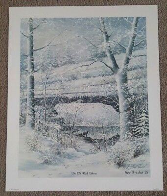 Fred Thrasher Print The Old Rock House 307/1500 19X23 Inches Hand Signed