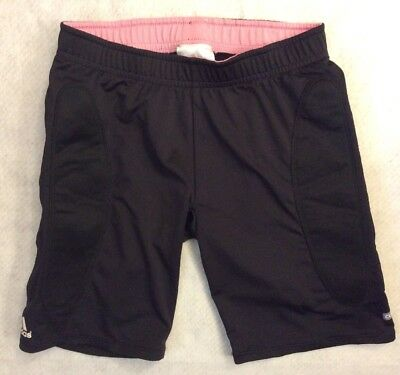 Adidas Climalite Girls Padded Shorts Sz Youth L Black Base Layer Compression