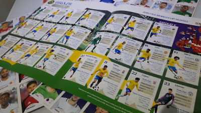 IN STOCK RARE Brazilian Extra Update Set 8 Stickers BRAZIL Panini World Cup 2018
