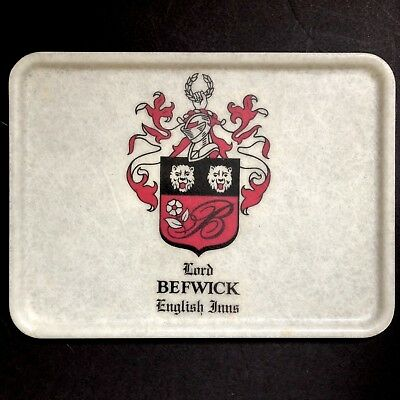 Lord Befwick English Inns Vtg Fiberglass Tray Cocktail Restaurant Old Erie PA
