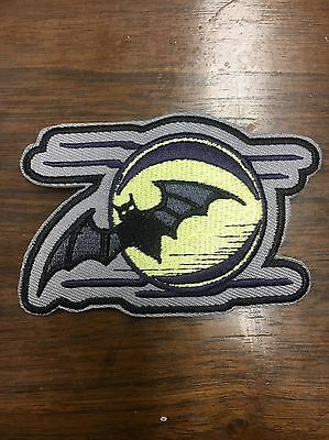 Bat And Full Moon Patch, Nikki Sixx, Motley Crue, Sixx AM, Goth, Halloween